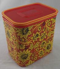 Tupperware A 152 Quadro Dose 2,1 l Rot / Gelb mit Blumen Neu OVP