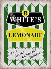 R Whites Lemonade, 149 Vintage Drink Cafe Old Shop Retro, Small Metal/Tin Sign