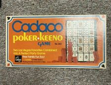 CADACO POKER KEENO 1971 Vintage Family Board Game #340 - 100% Complete