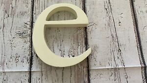 """Pottery Barn Kids Small Wooden Wall Letter, Simply White """"e"""""""