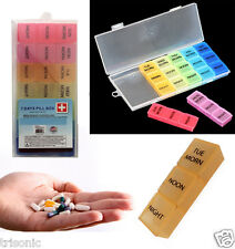 7 Day Pill Box Organizer Weekly Medicine Vitamins Storage Container Travel Case