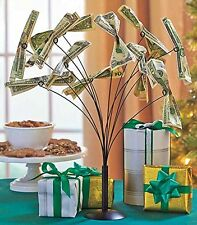 Metal Money Tree Gift Card Holder Party Conversation Piece Table Centerpiece New