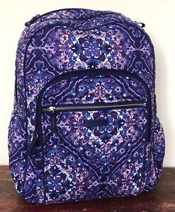 Vera Bradley Regal Rosette Iconic Campus Backpack 16 x 12 x 7.5 NWT
