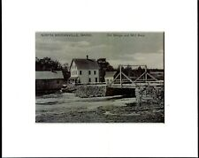 MAINE, NORTH BROOKSVILLE, OLD BRIDGE & MILL RACE, MATTED PRINT,  MP BKV 002