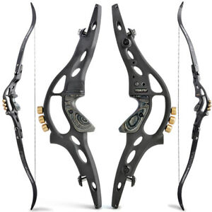 "62"" ILF Recurve Bow Kit 30-60lbs limbs 19"" Riser Takedown Archery Target Hunting"