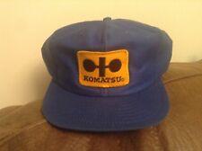 Vintage Komatsu Truckers Cap Hat Patch Snapback Louisville Mfg Co
