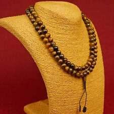 Mala Tiger Eye Size (8mm) Necklace Gemstone Guru Stupa NEPAL BUDDHISM 98