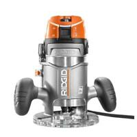 RIDGID Fixed Base Router 11 Amp 2 HP 1/2 in. Spindle Lock Variable Speed Corded