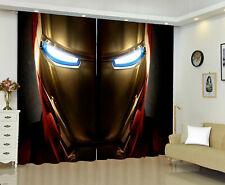 Iron Man Living Room Blackout Curtains Panels Bedroom Thermal Window Drapes 2PCS