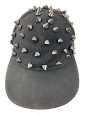 Spiked Black Snapback Adult Cap Hat