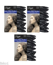 "Diane #5042 SATIN SOFT BLACK 1"" PILLOW HAIR ROLLERS 3-PKS"