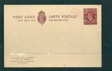GB 1940 1 1/2d + 1 1/2d Reply paid unsevered postcard pair mint