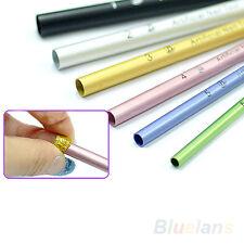EG_ 6Pcs French Acrylic Nail Art Tips Shaping C Curve Rod Sticks Manicure Tool N