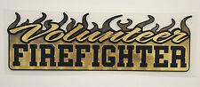 """Volunteer Firefighter Vinyl Decal, Fire Dept., Graphic, flames, 10""""wide  #FD50"""