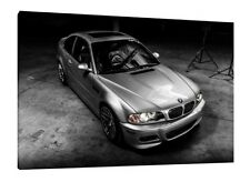 BMW E46 M3 - 30x20 Inch Canvas Wrapped On Wooden Frame Car Art