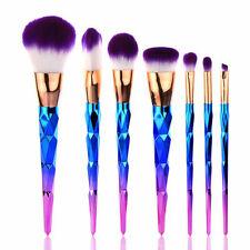 7Pcs Colorful Makeup Cosmetic Brushes Set Powder Foundation Lip Brush Tool Kit