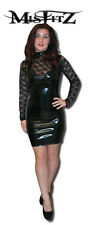 Misfitz black PVC and Lace  glamour mistress dress, size 20 goth