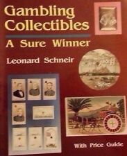 GAMBLING MEMORABILIA VALUE GUIDE COLLECTOR'S BOOK Cards Dice Chips Poker