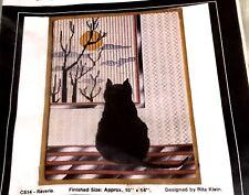 "Much Loved  MAZALTOV'S ""REVERIE"" CAT In WINDOW Open Canvas Needlework Kit 10x14"