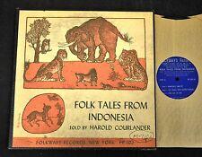 "10"" FOLK LP Harold Courlander Folkways 102 Folk Tales From Indonesia"