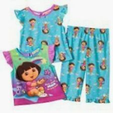 Dora the Explorer Stars Pajamas 3 Piece Set - S 2T NWT Toddler Girls