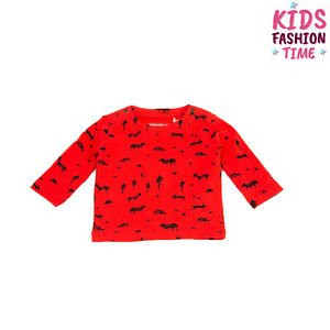 IMPS&ELFS T-Shirt Top Size 12-18M Forest Animal Print Long Sleeve Crew Neck