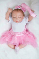 """20"""" Cute Sleeping Reborn Doll Newborn Toddler Infant Baby Girl Doll with Clothes"""