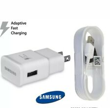 Original OEM Samsung S7 S6 Note 5 J3 J5 Fast Charger Cargador + Cable Micro USB