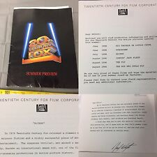 Vintage 1986 20th Century Fox Summer Preview Press Kit Aliens/James Cameron