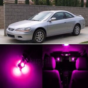 17 x Pink LED Lights Interior Package For Honda ACCORD 1998 - 2002 + Pry TOOL