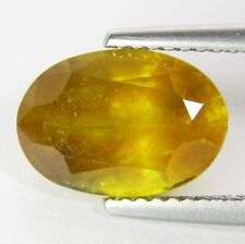 4.89Cts Ravishing Natural Yellow Sapphire Oval Shape Loose Gemstone Ref VDO