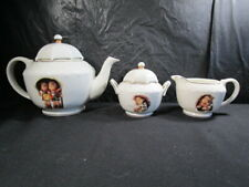 "Hummel Goebel  "" Umbrella Boy & Girl "" -  Porcelain Tea Set  -  Danbury Mint"