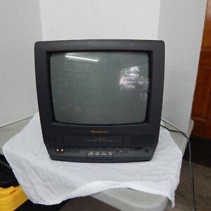 "Panasonic 4 Head Omnivision 13"" TV/VCR Combo VHS PV-M1368 Retro Gaming No Remote"