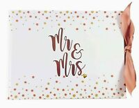 NEW! Embellished MR & MRS Wedding Guestbook Guest Book Reception Keepsake Gift