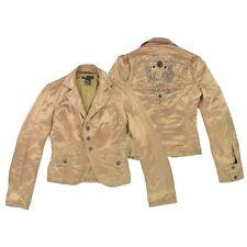 DIESEL Damen Blazer M 38 gold Sakko Woman Jacket Cardigan Jacke TOP