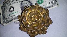Gorgeous Large Antique Vtg Brass Bronze Ormolu Repousse Drawer Pull Knob No7