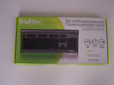 *New* RetailPlus Slim Multimedia Keyboard with USB, Speaker and Mic Port
