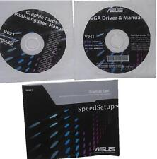 ORIGINALE Asus driver CD DVD v941 hd6850 Direct CU driver Manual scheda grafica NUOVO