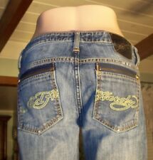 ED HARDY Jeans size 30 blue denim Signature zipped pockets L26 X W30