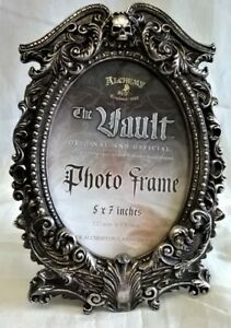 ALCHEMY GOTHIC MASQUE OF THE BLACK ROSE PHOTO FRAME - ANTIQUE SILVER EFFECT