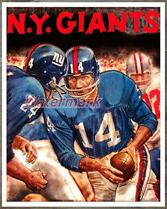 NFL Vintage New York Giants Art Print Color 8 X 10 Photo REPRINT Picture