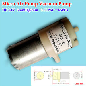 370 Motor Pump Air Pump Vacuum Pump DC 24V Negative Pressure Suction Pump -65kPa
