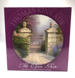 "Thomas Kinkade The Open Gate 750 Piece 24"" Round Ceaco Jigsaw Puzzle  New Sealed"
