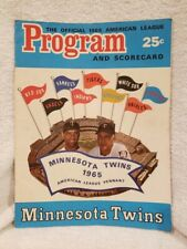 SWEET 1966 Minnesota Twins vs Kansas City A's Game Program, VINTAGE&COOL!!