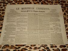 LE MONITEUR UNIVERSEL, journal officiel de l'empire français, n° 192, 11/07/1858