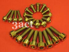 24 pcs Hayes Disc Brake Lever Caliper Mount Rotor Titanium / Ti Bolt - Gold