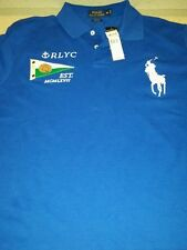 Polo Ralph Lauren Yacht Club 5 Patch RLYC Rugby RRL Casual Shirt Royal Blue XL