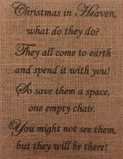 Christmas In Heaven Poem With Chair Printable.Primitive Christmas Sign Ebay
