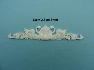 Decorative ornate swans applique onlay resin furniture moulding R107