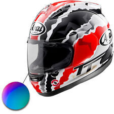 Arai RX7 RR GP 10> Motorcycle Crash Helmet Iridium Mirror Replacement Race Visor